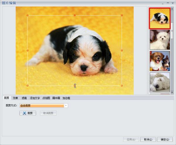 电子相册制作软件提供丰富图片编辑功能